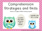 Colorful Owl and Polka Dot Reading Strategies and Skills posters