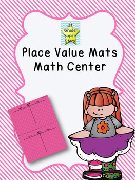 Colorful Place Value Mats - Math Center