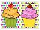 Colorful Polka Dot Birthday Cupcake Set