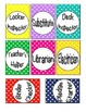 Colorful Polka Dot Classroom Job Badges