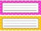 Colorful Polka Dot Name Plates {Multi-Color}