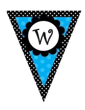 Colorful Polka Dot Welcome Pennant Banner **Freebie**