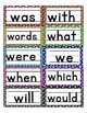 Colorful Polka Dot Word Wall with First 100 Fry Words