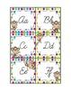 Colorful Polka Dot and Monkey Word Wall Set- Cursive