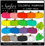 Colorful Pumpkins {Graphics for Commercial Use}