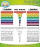 Colorful Rainbow Fraction Strip Clip Art — Over 40 Graphics!
