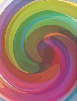 Colorful Rainbow Swirl Background