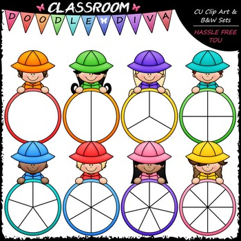 Colorful Raincoat Kid Spinners Clip Art - Games Clip Art &