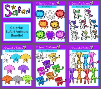 Colorful Safari Critters Bundle