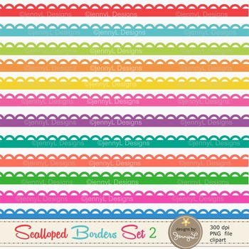 Colorful Scalloped Borders set 2