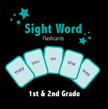 Sight Word Flashcards / Playing Cards (Color)