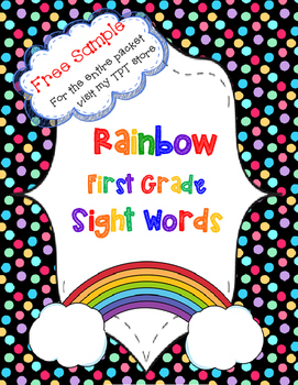 Colorful Sight Words Free Sample