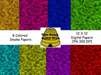 Colorful Smoke Papers {8 backgrounds for personal & commer