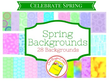 Colorful Spring Backgrounds - Bright Colors with Subtle Patterns