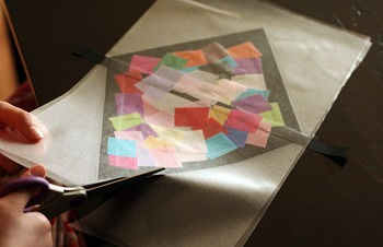 Colorful Stained Glass Contact Paper Kites