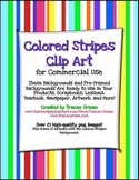 Colorful Stripes Frames, Borders, Background Clip Art