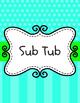 Colorful Substitute Folder/Binder Dividers