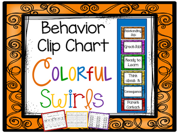 Colorful Swirls Behavior Clip Chart