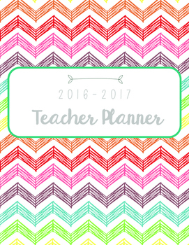Colorful Teacher Planner July 2016-July 2018