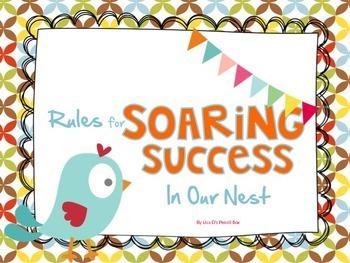 Colorful Themed Class Rule EDITABLE