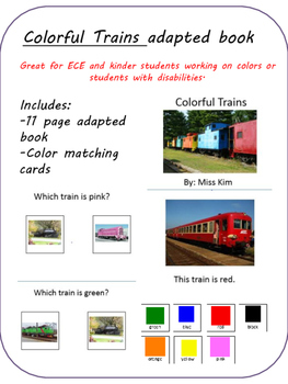 Colorful Trains adapted book