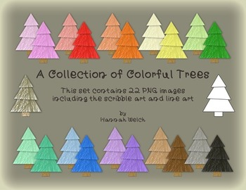 Colorful Tree Clip Art Collection