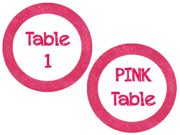 Colorful Vintage Table Labels