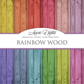 Colorful Wood Digital Paper fence wood grain textures scra
