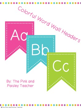 Colorful Word Wall Headers