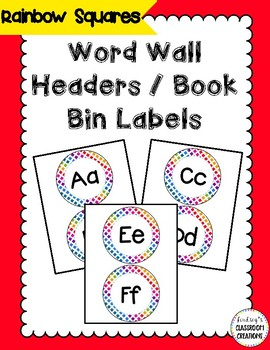 Colorful Word Wall Headers - Colorful Rainbow Theme