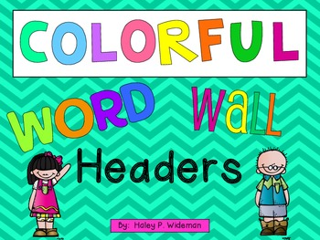Colorful Word Wall Letter Headers