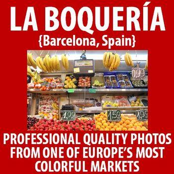Spanish - Vibrant photos from La Boqueria! Barcelona, Spain