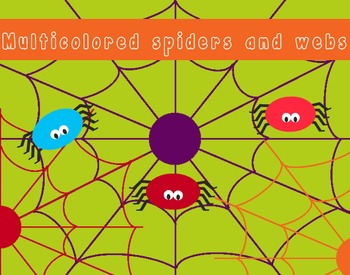 Colorful spiders and webs, free for personal and commercial use!