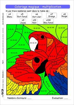 Coloriage magique multiplication CM1
