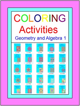 Coloring Activities Growing BUNDLE (For Personal Use 164+)