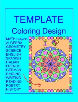 Coloring Activity TEMPLATE - Several Subjects (12 problems
