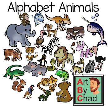 Alphabet Animals Clip Art and Line ArtByChad