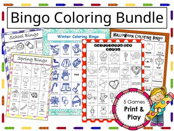Coloring Bingo Games Bundle