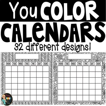 Coloring Blank Calendars