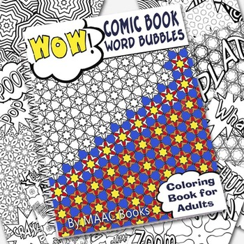 Coloring Book Comic Book Bubbles for Adults