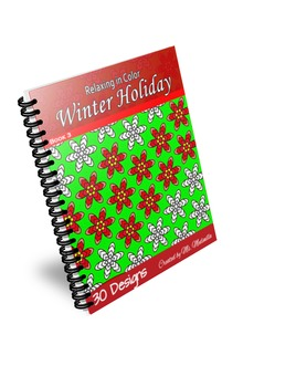 Coloring Book Winter Holiday for Adults