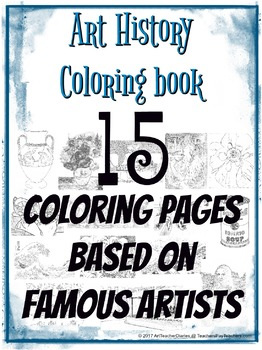 Coloring Book of Art History and Famous Artists 15 Colorin