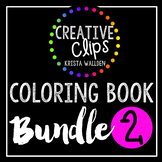 Coloring Books: Bundle 2 {Made by Creative Clips Clipart}