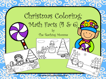 Coloring Math Fact Pages