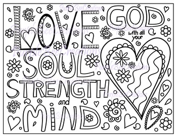 Coloring Page-Bible Verse Coloring Page