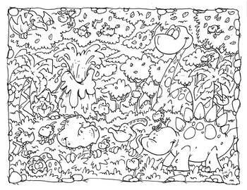 Coloring Page ~ Dinos