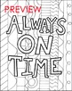 Always on Time Coloring Page