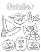 Coloring Page for October