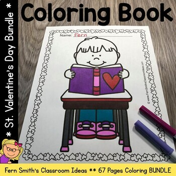 Coloring Pages For St Valentine's Day Bundle