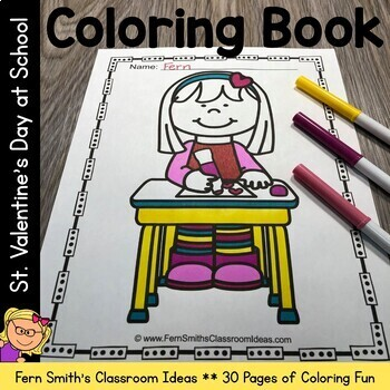 Coloring Pages For St Valentine's Day Fun At School